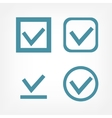 Check mark flat icons vector image