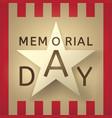 memorial day retro background vector image