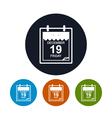 Calendar leaf icon data icon vector image