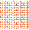 cute cartoon bunny and carrot baby pattern vector image
