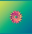 flower sign logo sun shine ornament 3d style vector image