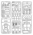 Website Layout Doodles vector image