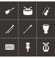 music instruments icon set vector image