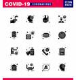 16 solid glyph black coronavirus epidemic icon vector image vector image