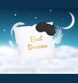 3d realistic different falling white fluffy vector image vector image
