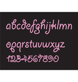 Abstract candy font vector image