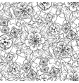 Abstract graphic floral pattern vector image