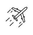 aeroplane icon vector image vector image