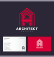 architect bureau logo red letter a some strips vector image