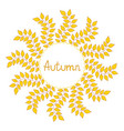 autumn decorative frame vector image vector image