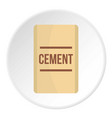 bag of cement icon circle vector image vector image