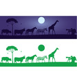 Beautiful Wild Animals Wall Decal vector image vector image
