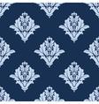 Blue floral arabesque damask pattern vector image