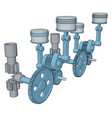 blue machine tool on white background vector image vector image