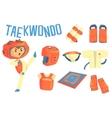 Boy Taekwondo Fighter Kids Future Dream vector image vector image