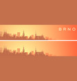 brno beautiful skyline scenery banner vector image vector image