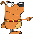 Brown Angry Dog vector image vector image