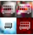 bus double decker icon on blurred background vector image vector image