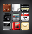 business apps set vector image vector image