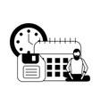 businesspeople work office vector image