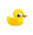 cartoon ducky vector image vector image