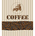 Coffee with retro car vector | Price: 1 Credit (USD $1)