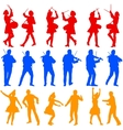 Color silhouettes of beautiful mans and womans vector image vector image