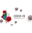 Covid 19 realistic concept with cell diseases or
