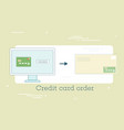 credit card order concept in line art style vector image vector image