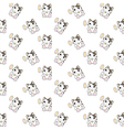 Cute Cartoon Cats Pattern vector image vector image