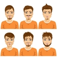 different fashionable male hipster hairstyles vector image vector image