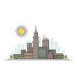 flat line city landscape vector image vector image