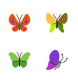 flat monarch set of moth beauty fly summer vector image vector image