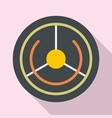 futuristic aim target icon flat style vector image