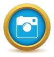 Gold camera icon vector image