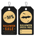 Halloween special sale price tags vector image vector image