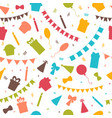 happy birthday seamless pattern with colorful vector image vector image