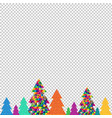 happy christmas tree transparent background vector image vector image