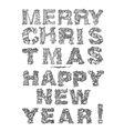 Happy New Year lettering Greeting Card design vector image vector image