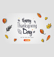 happy thanksgiving day banner design with fall vector image