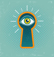 keyhole and eye vector image vector image