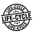 life-cycle round grunge black stamp vector image vector image