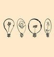 light bulb image hand drawn lightbulb set vector image vector image