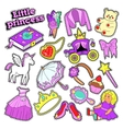 Little Girl Princess Badges Patches Stickers vector image