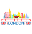 London England Travel Landmarks vector image vector image