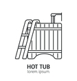 Modern Line Style Hot Tub Logotype Template vector image vector image