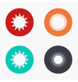 modern sun colorful icons set vector image vector image