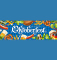oktoberfest beer festival banner vector image vector image