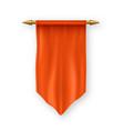 orange pennat flag marketing display vector image