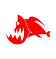 piranhas logo sign marine predator fish of amazon vector image